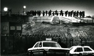 Dance-in on missile silo at Greenham Common, 1/1/83