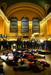 Grand Central Terminal die-in, 12/3/14