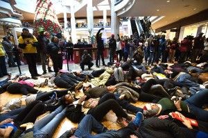 Black Friday die-in at Galleria Mall, St. Louis