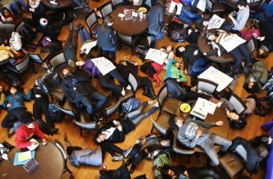 Students at Washington University, die-in, 12/1/14