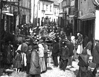 Crowded street in the Vilna Ghetto