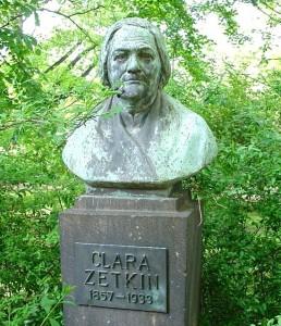 Bust of Clara Zetkin in a Dresden park.