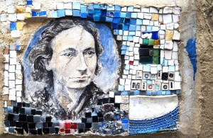 Mosaic street art at Montmartre.