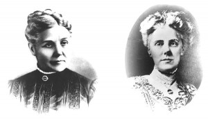 Ann Jarvis (left) and her appreciative daughter Anna (right)