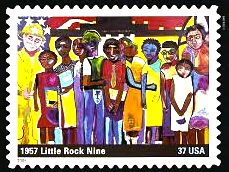 "U.S. postage stamp, 2005. Art: ""America Cares,"" by George Hunt"