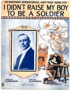 Sheet music for the hit tune of the antiwar movement